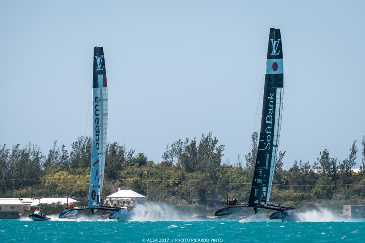 AC35: Results from Monday's practice racing