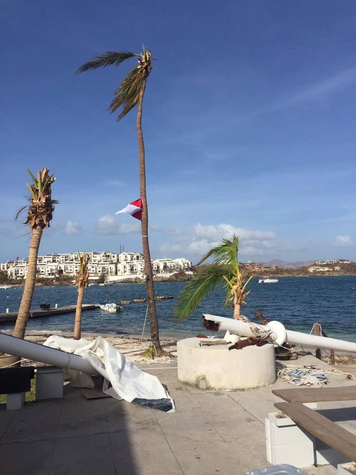 Irma's Impact: St Thomas YC burgee still proudly waves