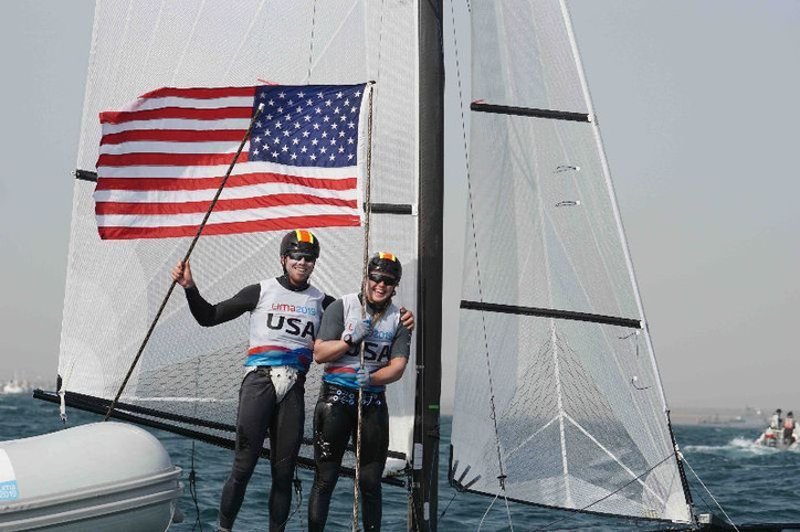 OLYMPICS: Gibbs, Weis win gold for the United States in Nacra 17 at Pan Am Games and earn country qu