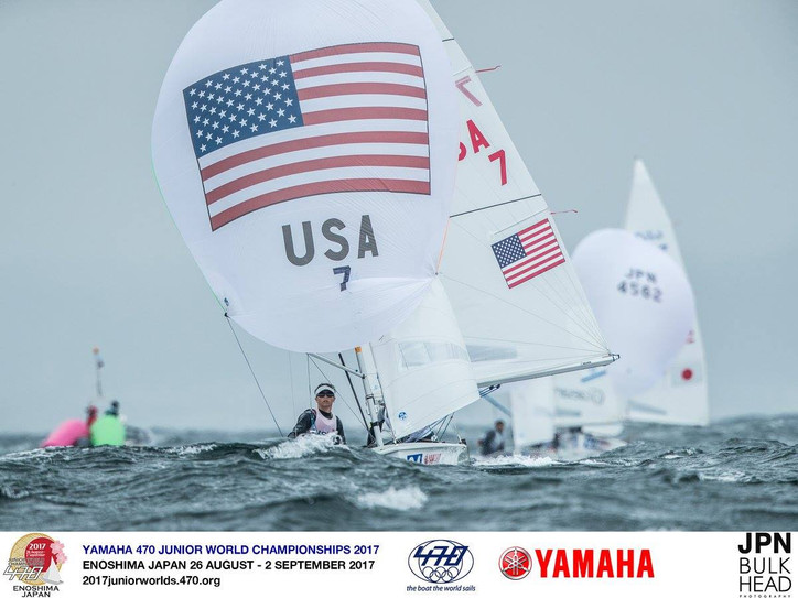 470 Junior Worlds: Survival conditions at the 2020 Olympic Sailing venue in Japan as Typhoon No. 15