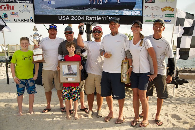 Some of the happy winners at the 2017 Sperry Charleston Race Week, which concluded Sunday afternoon.