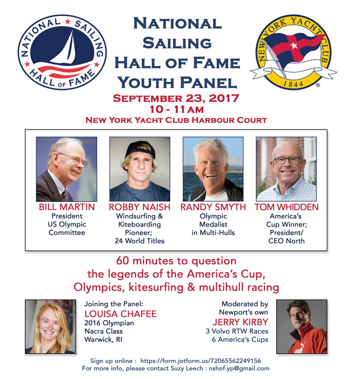 USA's NSHOF: Youth Panel at Harbour Court on Saturday