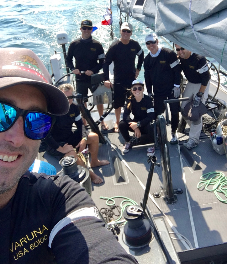 Transpac: Pre-start selfie from the crew of VARUNA