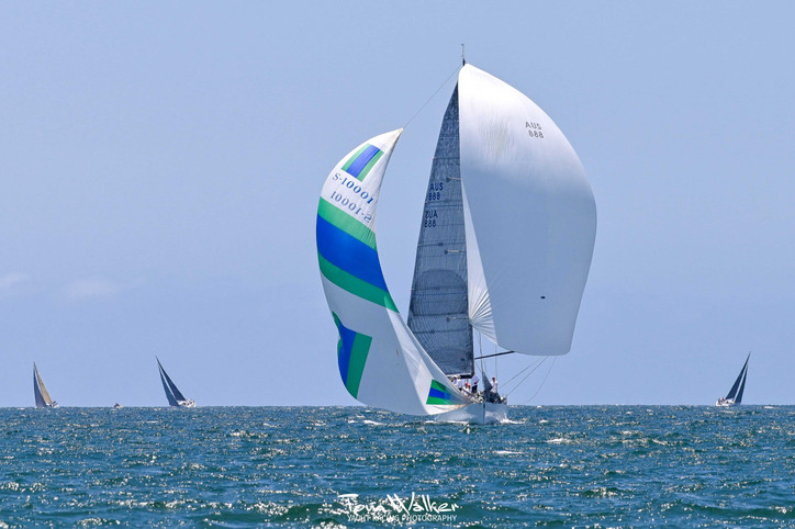 Long Beach Race Week: Frers 50 AUSSIE AIRWAVES doing it old school; Tom Walker photo