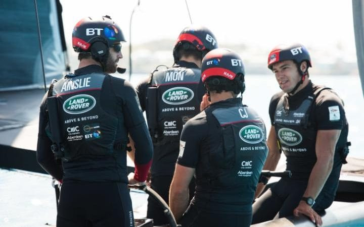 Sir Ben Ainslie is adamant that his Land Rover BAR team can still win the 35th America's Cup. Photo: HARRY KH
