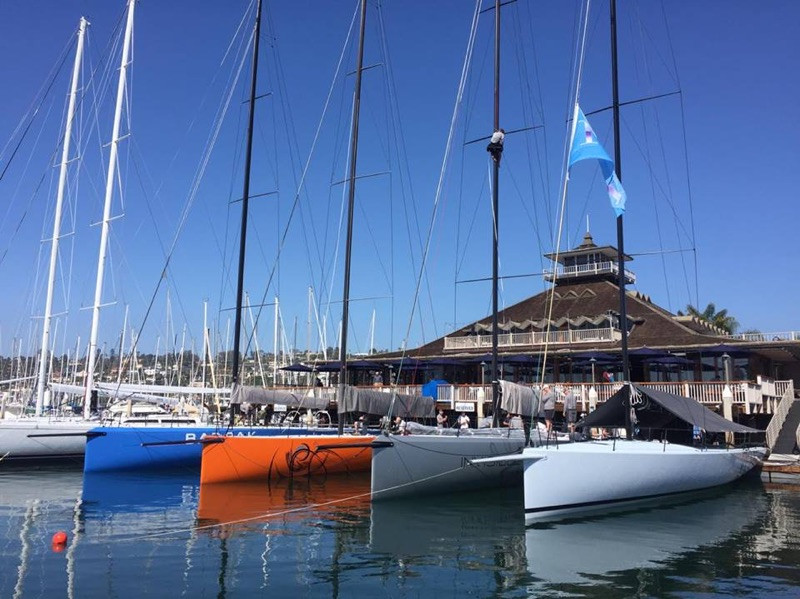 The new PAC 52 Class are lined up and about to do battle for the first time at SDYC's Yachting Cup, which starts tomorrow and runs through Sunday. Photo: Andrew Paolini.