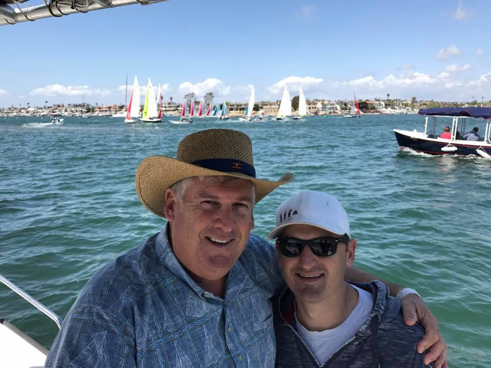 Peter and son Chris Bretschger at Baldwin Cup 2017, Newport Beach, CA. Both keen and successful racing sailors, Peter is a Balboa YC staff commodore, and Chris is helping SAILING ILLUSTRATED in his (limited) spare time as head of marketing.