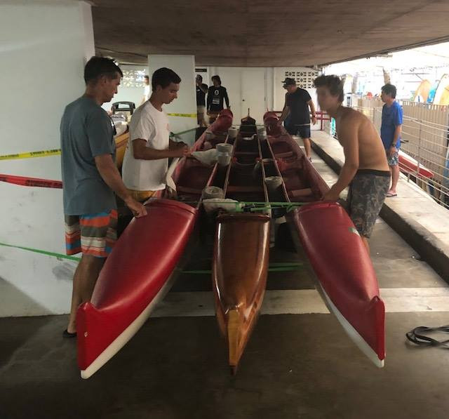 Photo of the Day: Preparing the Outrigger Canoe Club for the arrival of Hurricane Lane