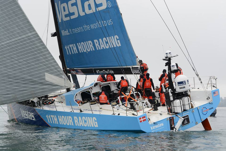 Volvo Ocean Race: TEAM VESTAS arrives in Newport