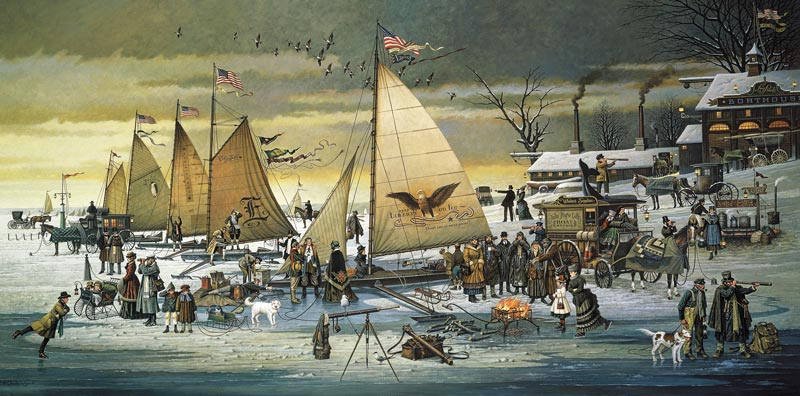 Charles-Wysocki--Ice-Riders-of-Chesapeake-Bay