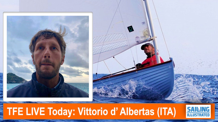 TFE LIVE: Today, Vittorio d'Albertas (ITA), sailmaker and budding YouTube star, live via Skype f