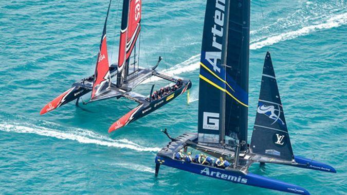 "Kiwi Radio: ""America's Cup blunder hands Team New Zealand race win over Artemis"""