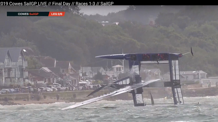 SAILGP: Tom Slingsby's Team AUS dominate the Cowes event shortened to one day, winning all three