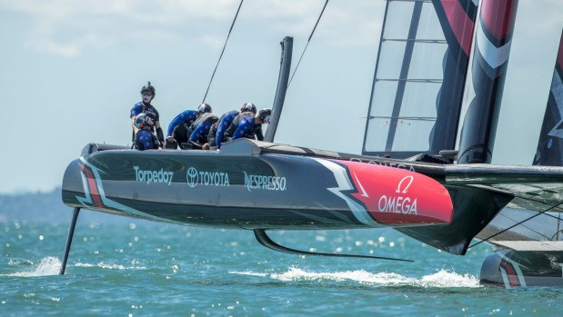 Peter Burling is riding high at the helm of Team New Zealand's AC50 and ready for the heat of battle in Bermuda.