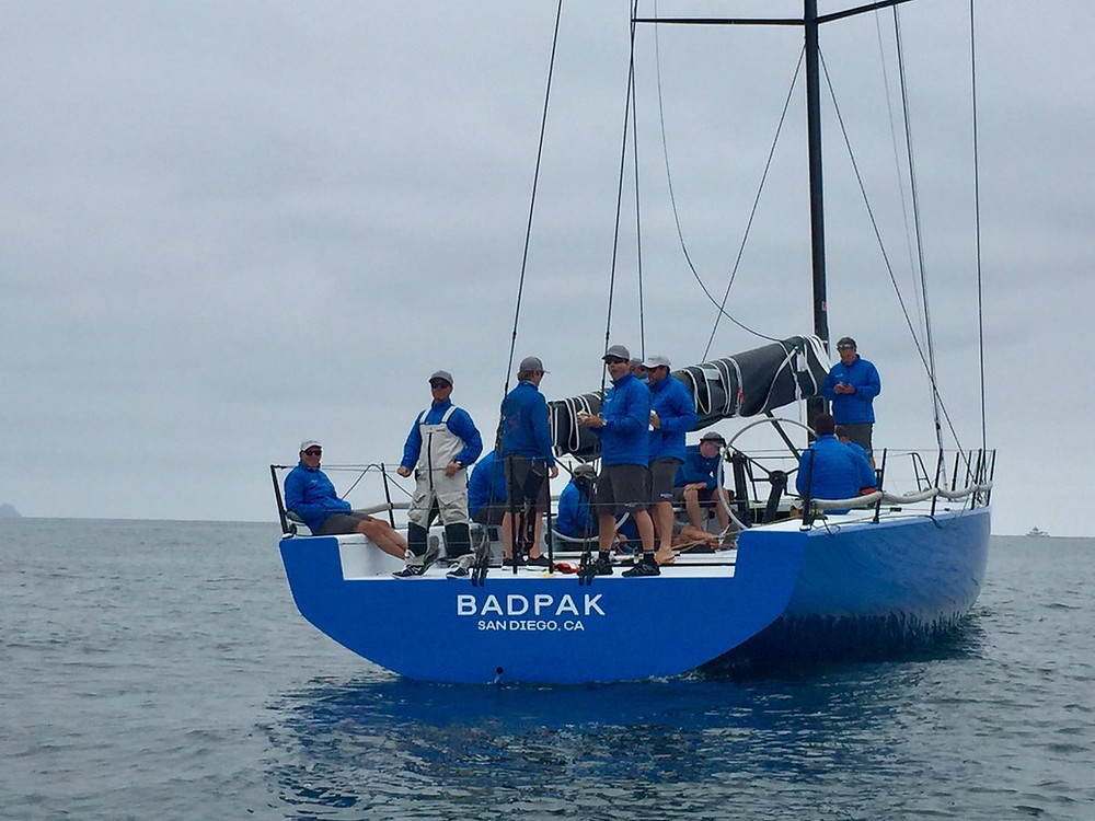 Tom Holthus' BADPAK, before today's first race of the SDYC Yachting Cup.