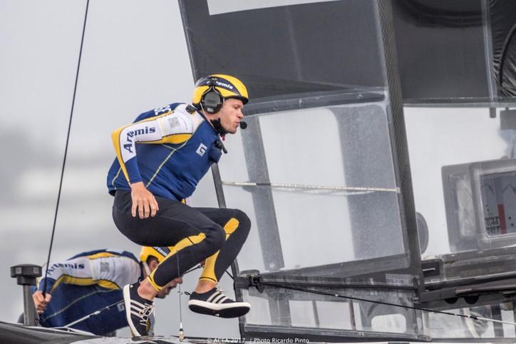Bernie Wilson: Artemis skipper falls overboard in Cup challenger finals