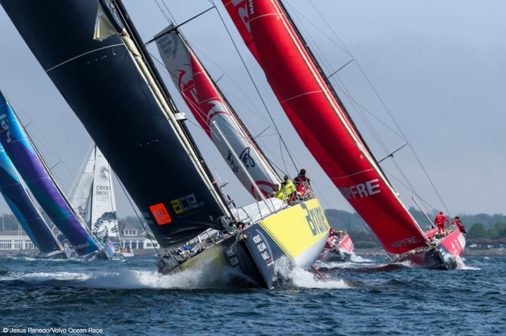 VOR: Brunel leads the fleet out of Newport to begin Leg 9 to Cardiff
