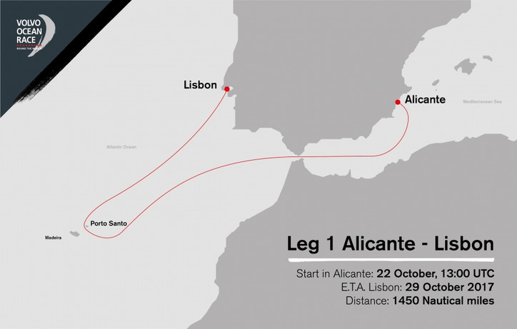 VOR: Superb video highlights of the start earlier today of Leg 1; 1450nm race to Lisbon via the Made