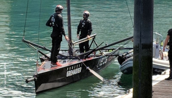 AC36: Photo of the Day – Sir Ben Ainslie's (GBR) test yacht seen on the water again, and more, o
