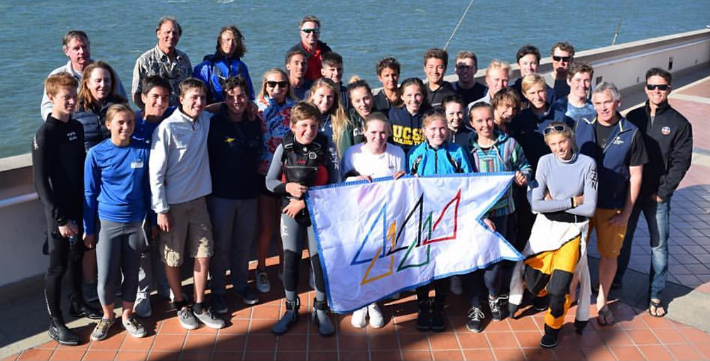 Saturday's High Performance NACRA clinic hosted by StFYC. That's the flag of the San Francisco Sailing Foundation, which supports Olympic and other top and aspiring sailors.
