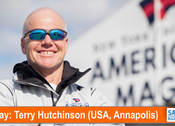 TFE LIVE: Today, Terry Hutchinson (USA), Skipper and Executive Director of NYYC's American Magic