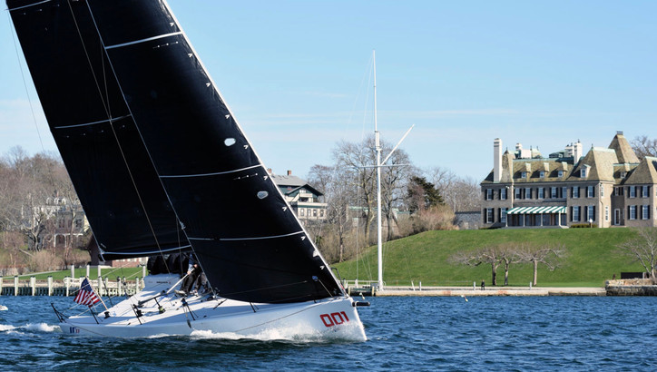 IC37: Sea-trials continue today in Newport, RI for NYYC's new 37-footer