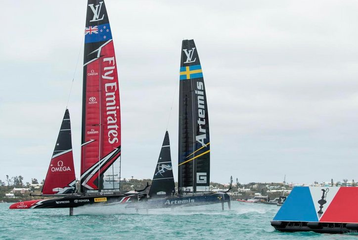 AC35: Artemis and ETNZ go head-to-head