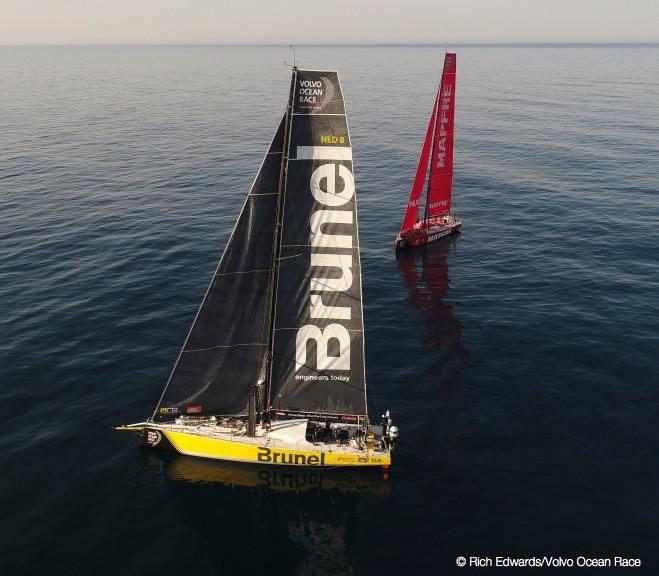 Volvo Ocean Race: MAPFRE wins final preliminary race; in-port race Saturday before fleet starts Leg