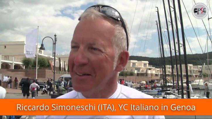 Today's Webcast: Live report by Riccardo Simoneschi (ITA, Yacht Club Italiano) from Genoa on the