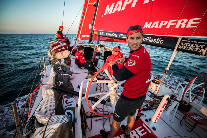 VOR: MAPFRE routs Volvo 65 fleet in Leg Zero dash across English Channel to Saint-Malo