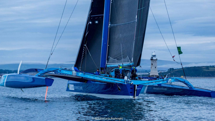 ROLEX Fastnet Race: CONCISE 10 first to finish; DONGFENG leads VO65s around the rock – gallery of Ca