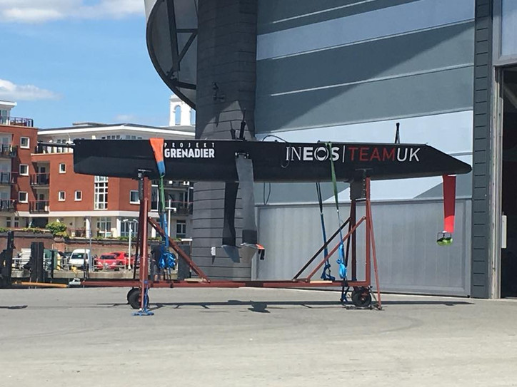 Photo of the Day: INEOS Team UK 'surrogate' foiling monohull revealed?