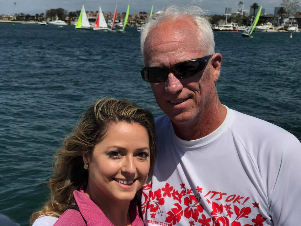 Greg Newman sailing for Balboa YC with daughter Jessica.