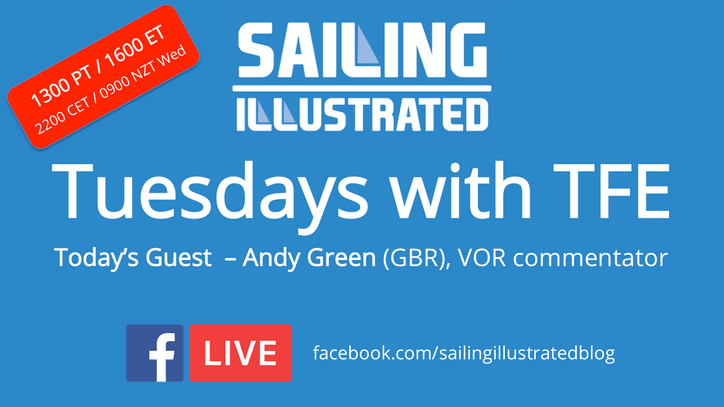 Tuesdays with TFE: Today's special guest, Volvo Ocean Race commentator/emcee Andy Green (GBR) li
