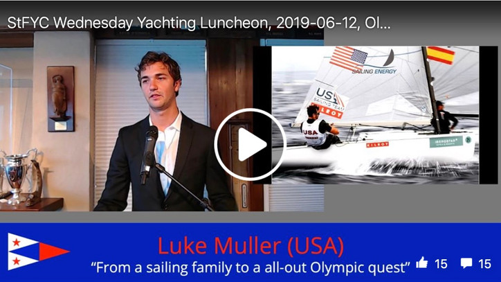 2020 Olympics: Watch Luke Muller (USA, Finn Class) at StFYC on Wednesday – his inspiring journey fro