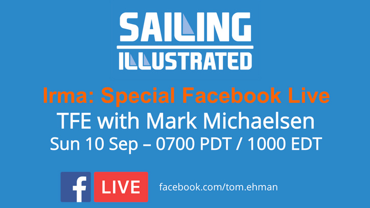 Irma's incursion: A special Facebook Live with Mark Michaelsen early Sunday morning – 0700 PDT /