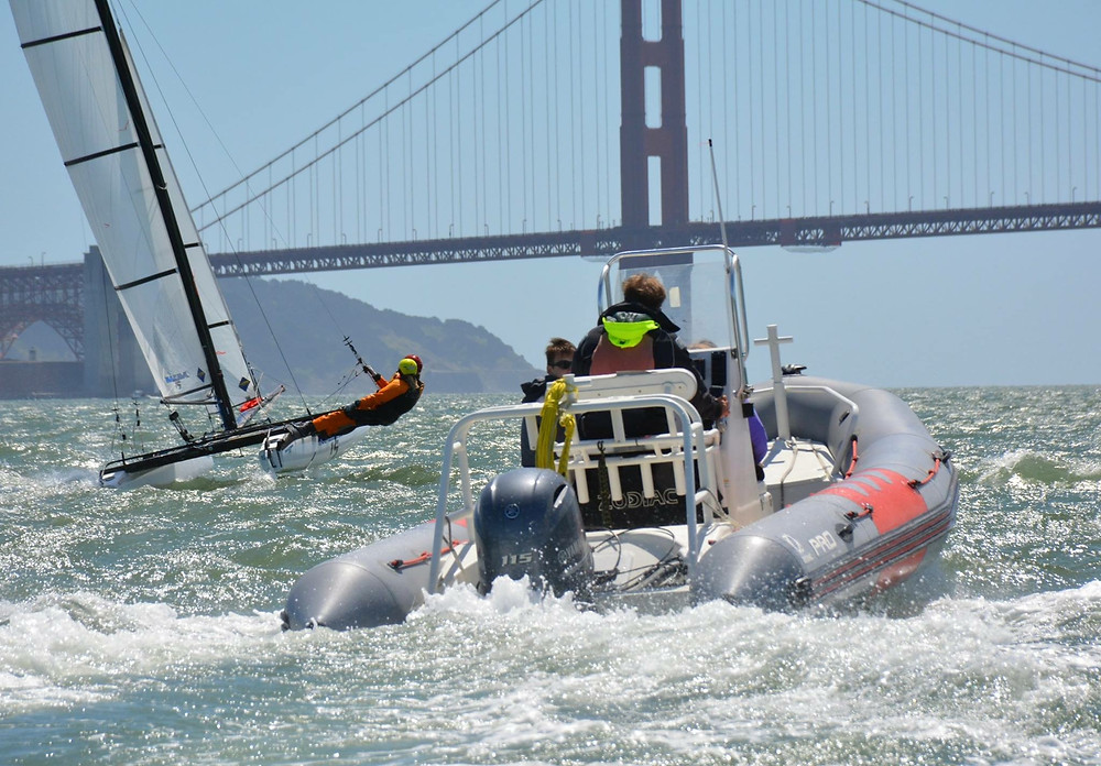 Saturday's High Performance NACRA clinic hosted by StFYC. Photo: Kimball Livingston