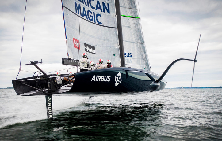 AC36 Breaking: MUST SEE photo of NYYC American Magic, the first AC75 to foil under sail; video to fo