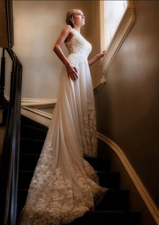 Bride on a Staircase