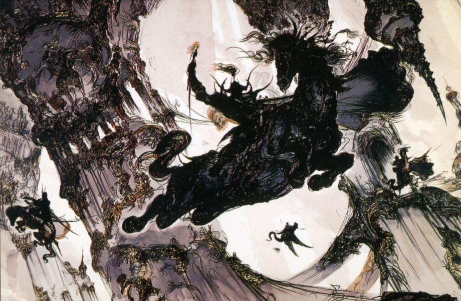 Final Fantasy Concept art of Yoshitako Amano. Yeah, he's good!