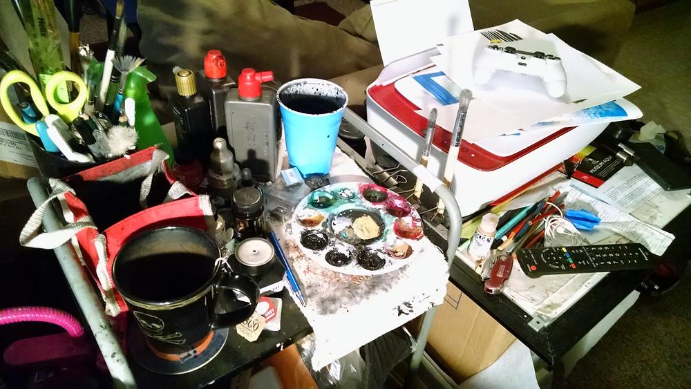 My studio I've begun to despise.