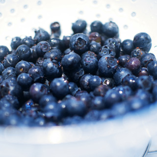 Rinsing Blueberries