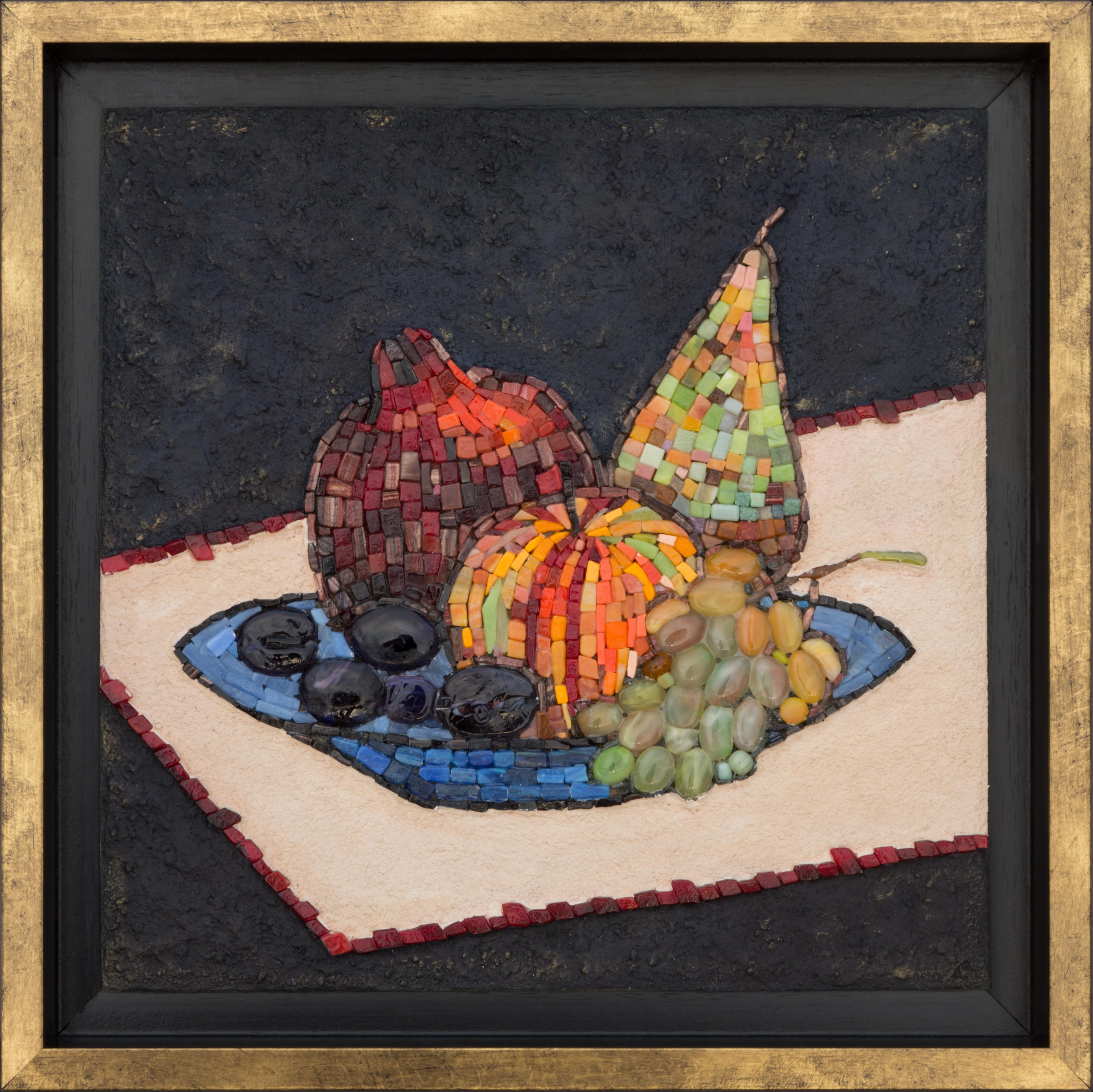 Натюрморт с голубым блюдом