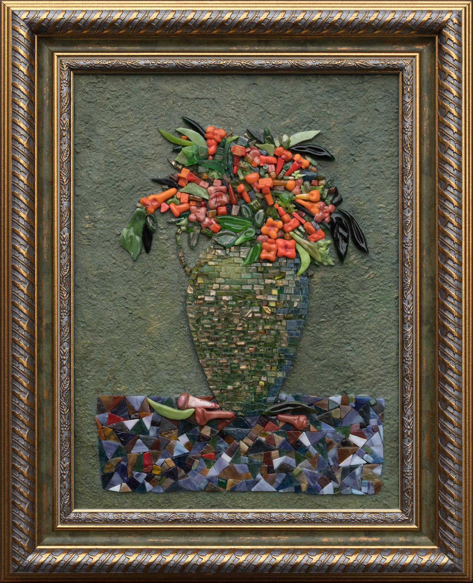 Натюрморт с зеленой вазой