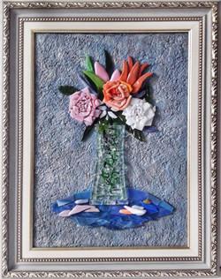 Натюрморт с тюльпанами и розами