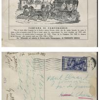 Postcard from Pablo Neruda to Paul Eluard, Rome, 1952