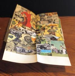 Fold-out collage from Bohumil Hrabal, Automat Svět