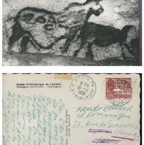 Postcard from Pablo Neruda to Paul Eluard. Sent from Geneva, Switzerland, 1951.