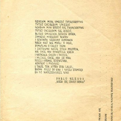 "Bim-Bom (Polish theatre group) flyer, ""Let the Woodcutter Awaken"""