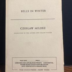 Czesław Miłosz, Bells in Winter
